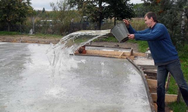 ухаживание за бетоном